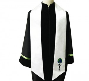 Custom embroidered graduation stole