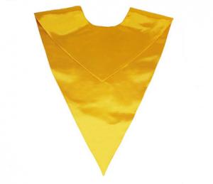 Unisex V Shape graduation Stole in gold