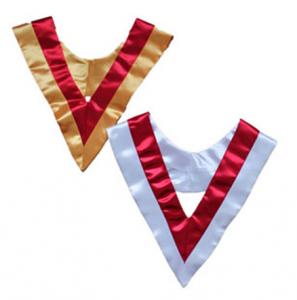 honor Plain V-Stole in satin material